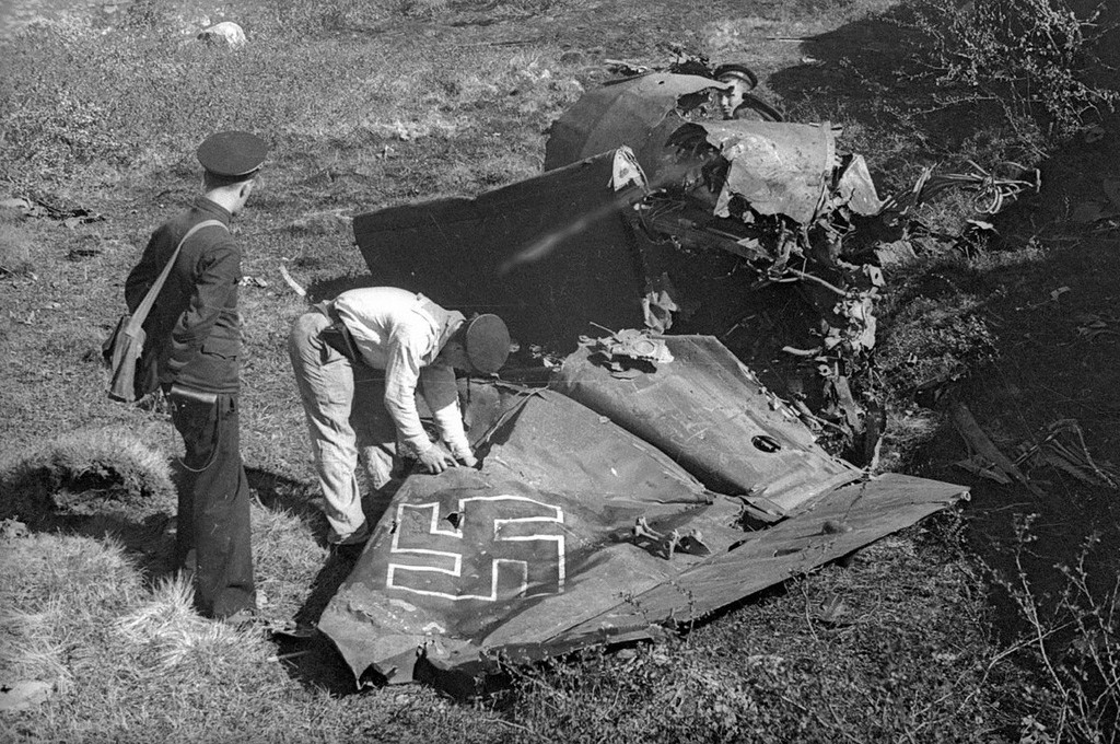 Messerschmitt allemand abattu
