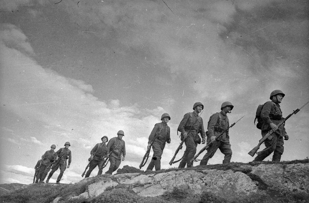 Fantassins sur la péninsule de Kola, 1941