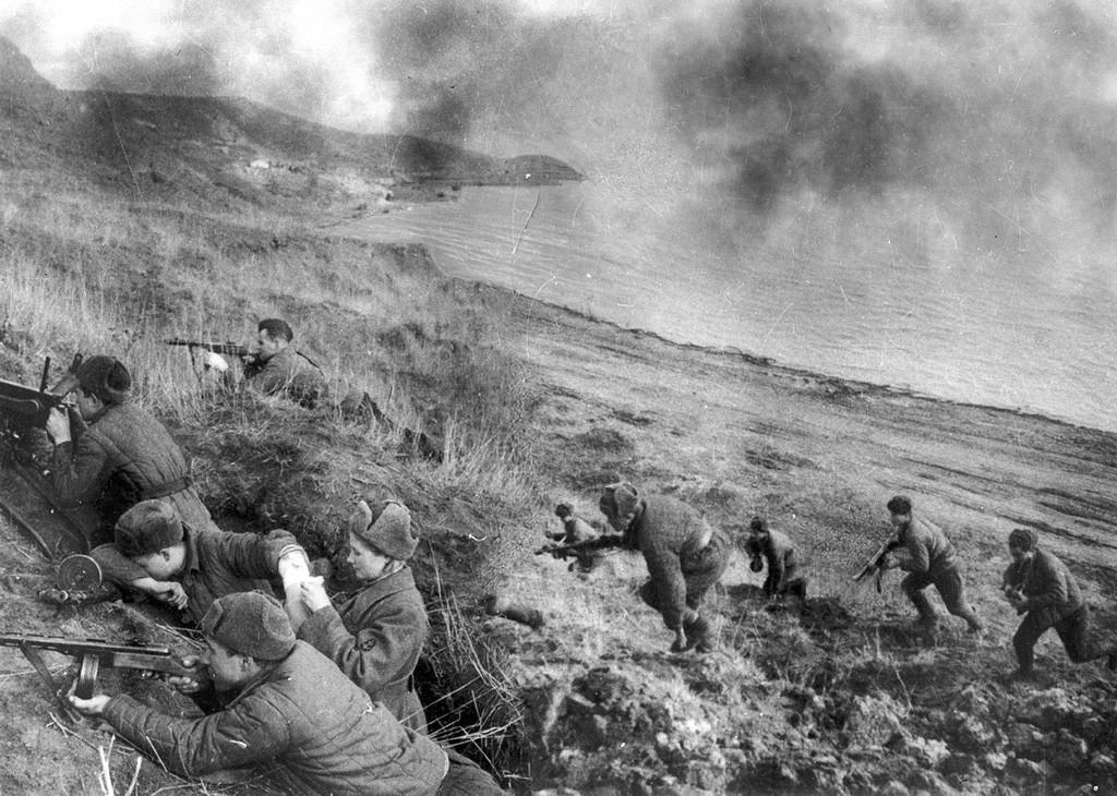 Sur la ligne de front, 1943