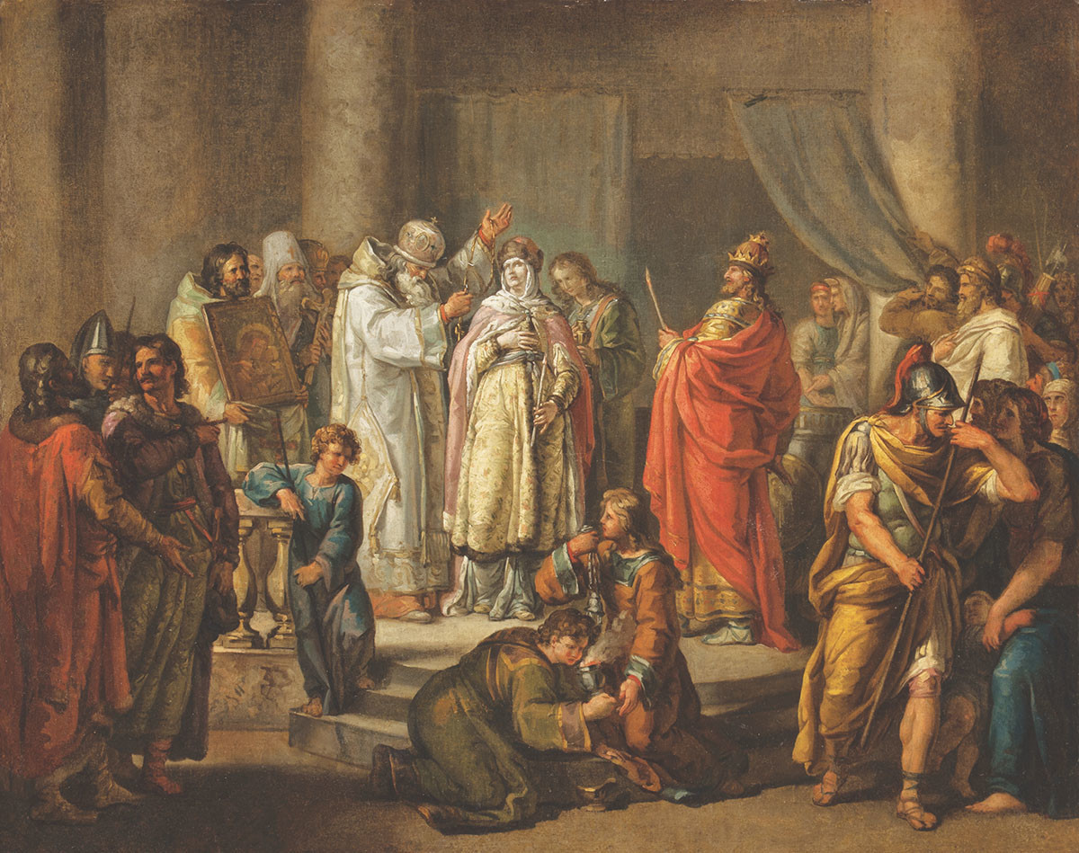 Ivan Akimov. Krst kneginje Olge