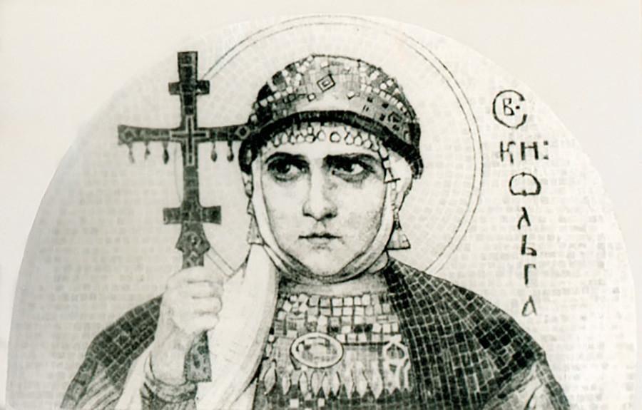 Santa Olga. Sketsa untuk mosaik. Nicholas Roerich.