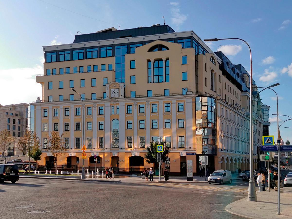 Stavba Centralne banke Rusije na Lubočnem pereulku