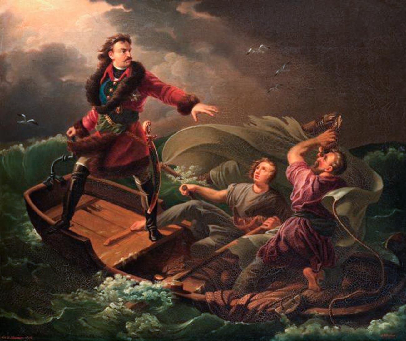 L'exploit de Pierre le Grand pendant une tempête
