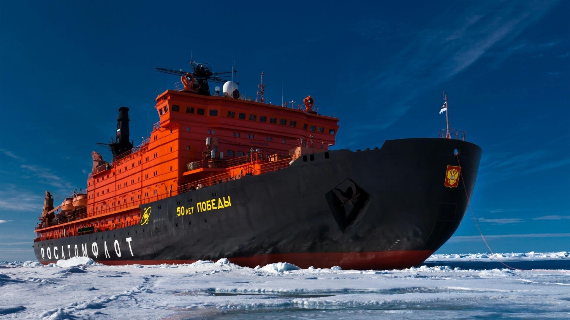 """Kapal pemecah es bertenaga nuklir """"50 Tahun Kemenangan"""" Rusia"""