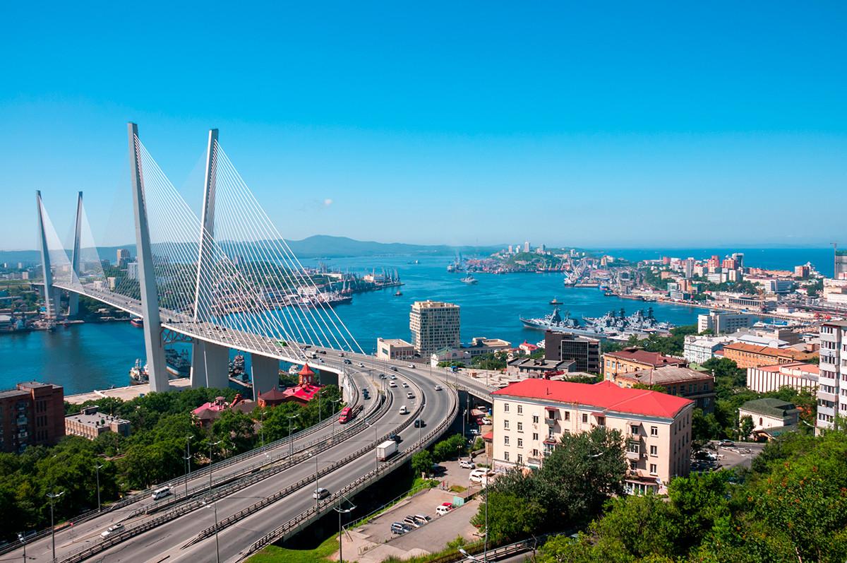 ウラジオストクの吊り橋