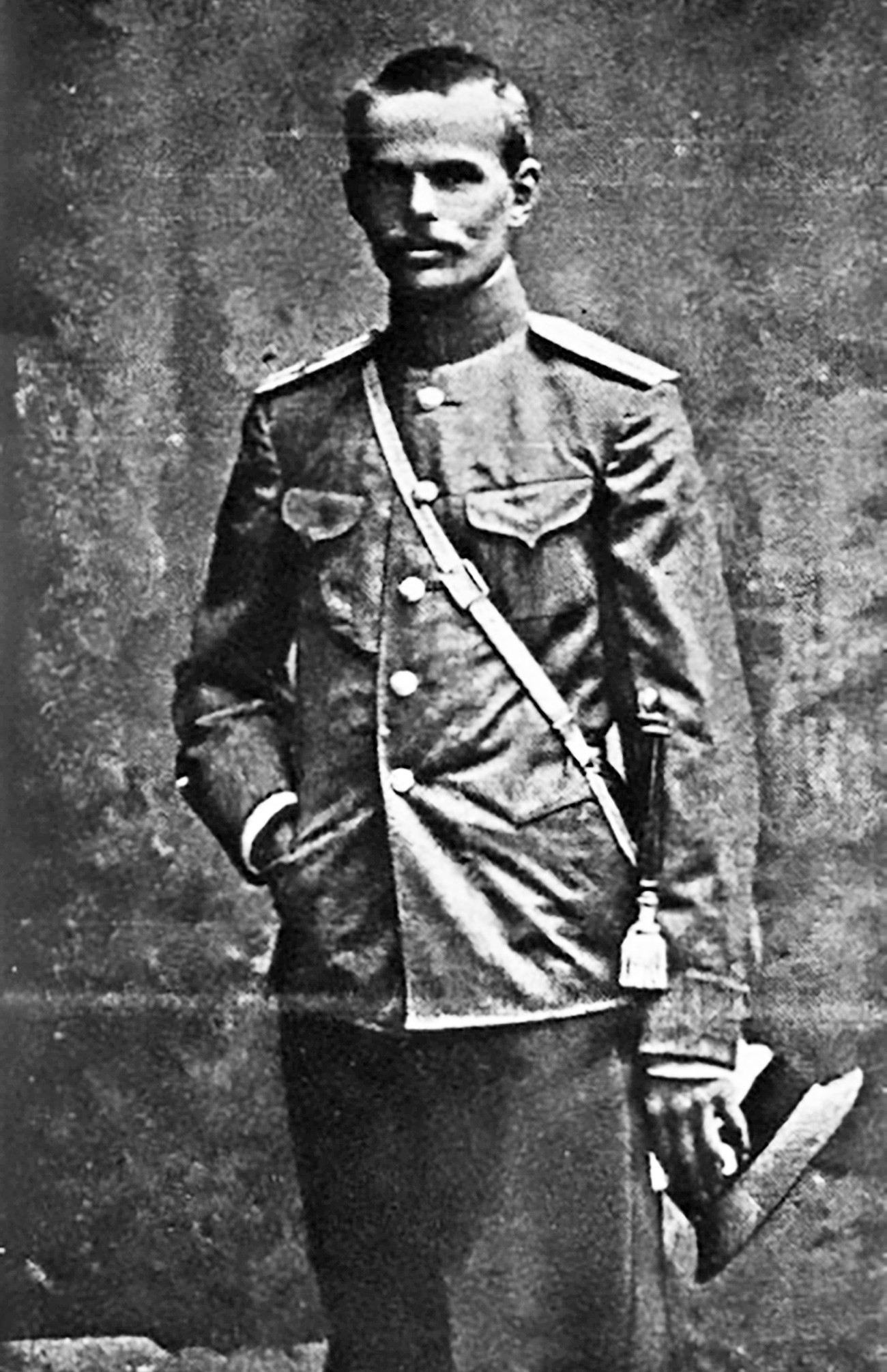 Roman von Ungern selama tugas militer pada Perang Dunia I.