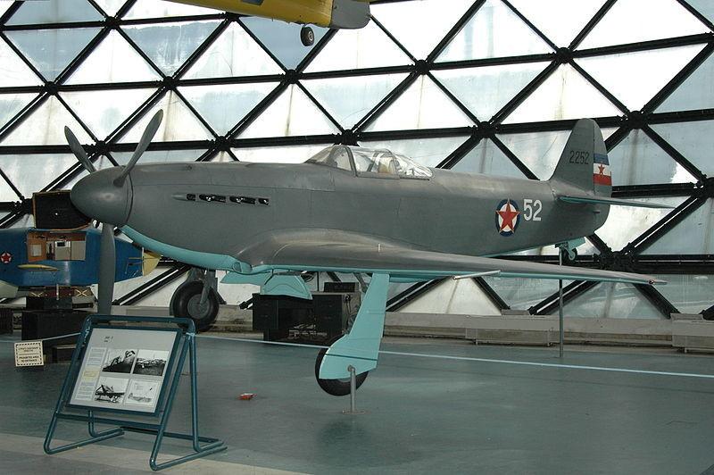 Јак-3 изложен во белградскиот Музеј на воздухопловството