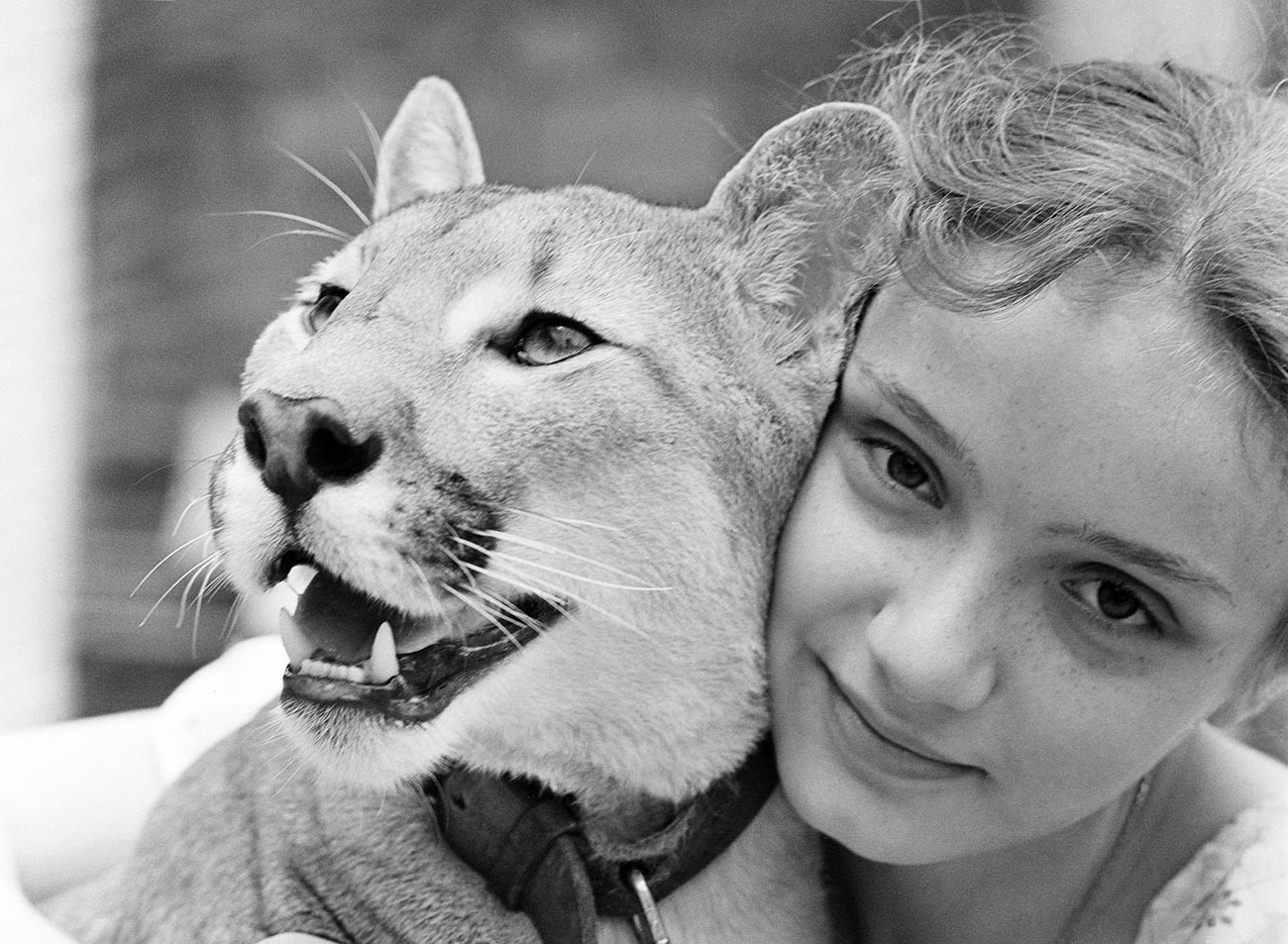 Eva Berberova with puma Lyaley, 1979