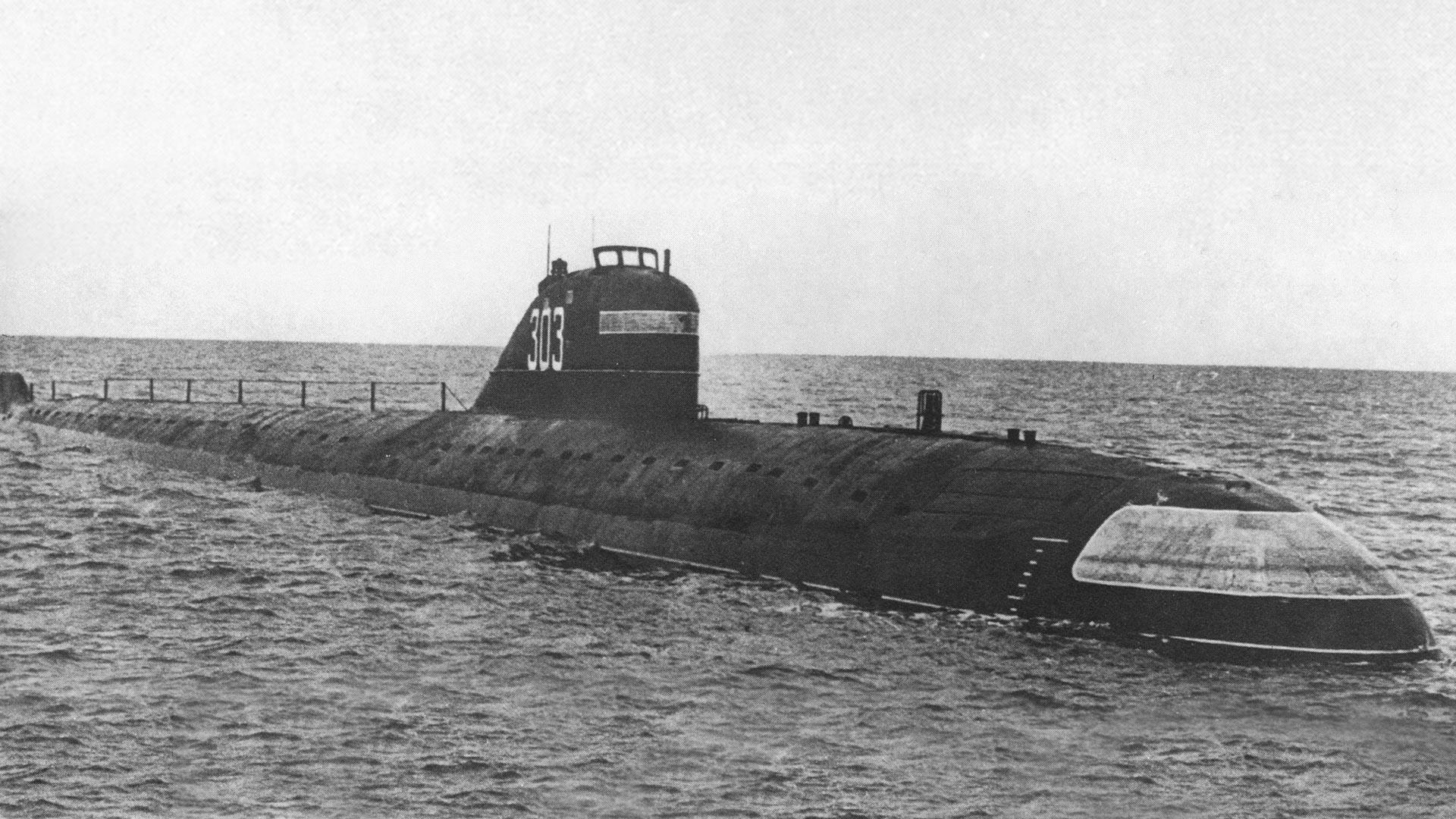 Die K-3 Leninski Komsomol - das erste sowjetische und das dritte Atom-U-Boot der Welt. Die K-3 war Leitschiff des Projekts 627