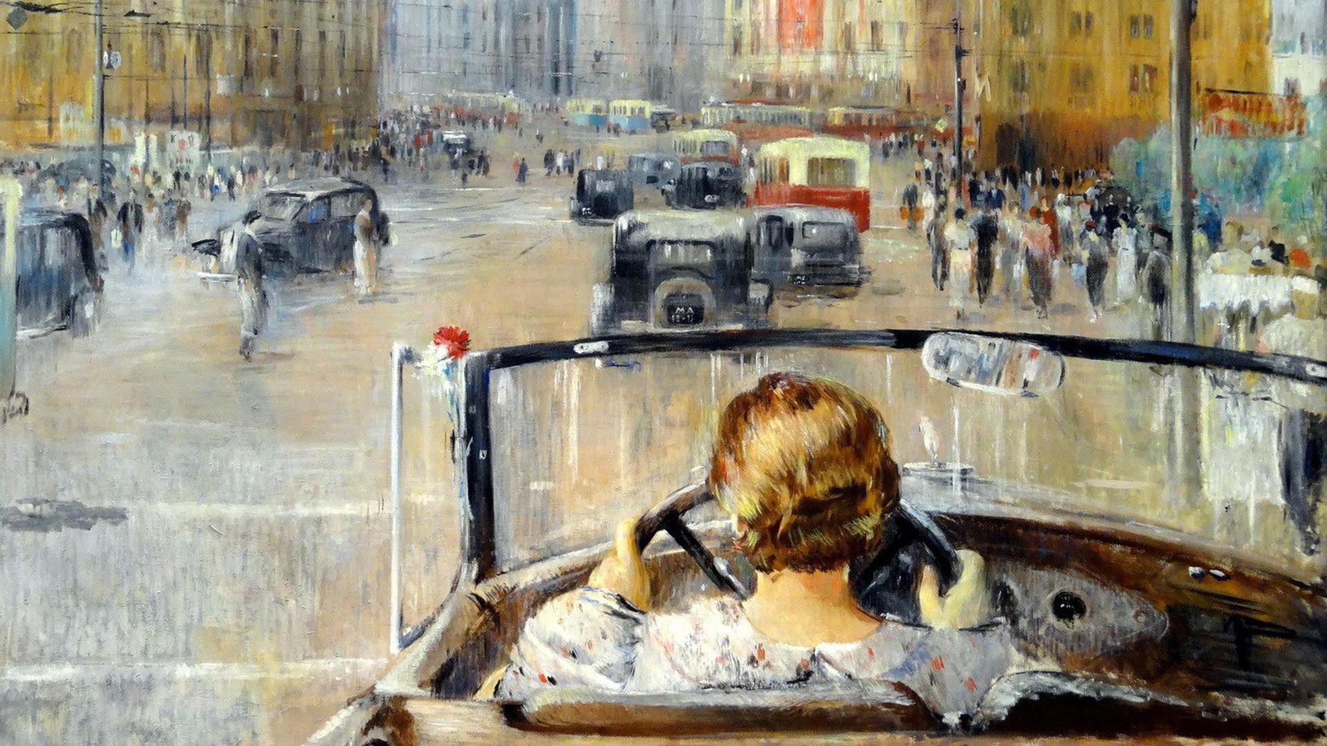 Iouri Pimenov. Nouveau Moscou, 1937