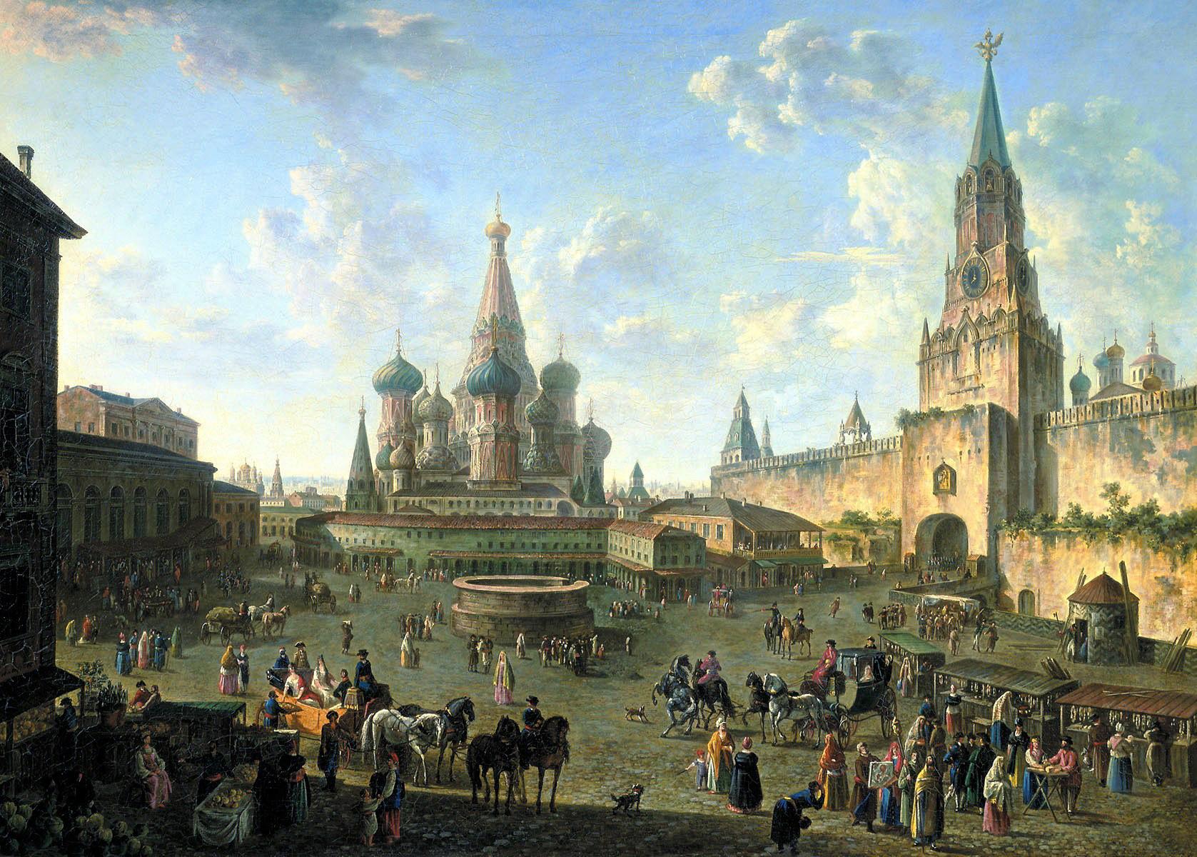 Fiodor Alexeïev. Place Rouge à Moscou, 1801