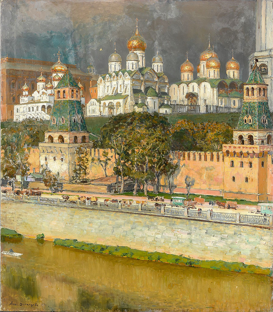 Apollinaire Vasnetsov. Kremlin de Moscou. Cathédrales, 1894