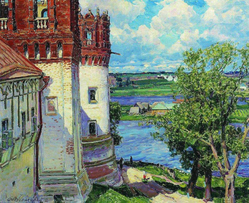 アポリナリー・ヴァスネツォフ、ノヴォデーヴィチ修道院の塔、1926年