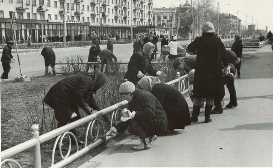 Auf zum Subbotnik! Das war ein freiwilliger Einsatz am Wochenende zur Straßenreinigung nach dem Winter.