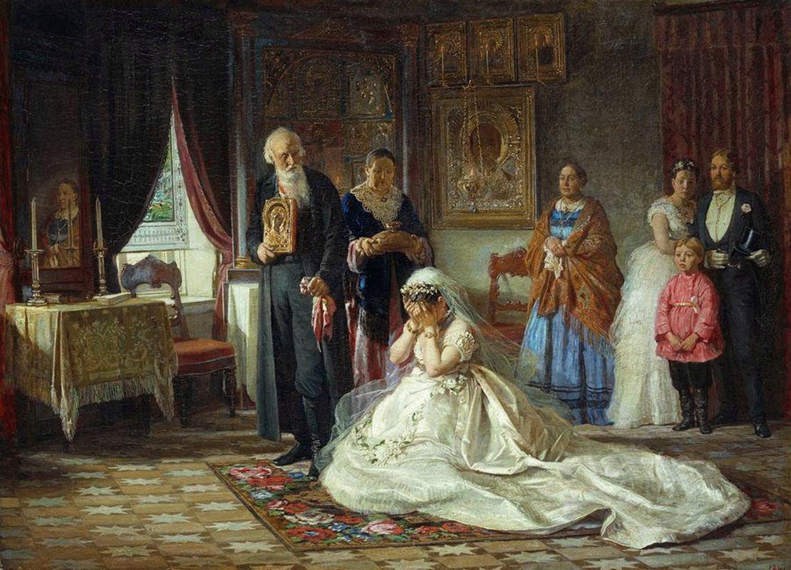 Avant le mariage par Firs Jouravlev, 1874
