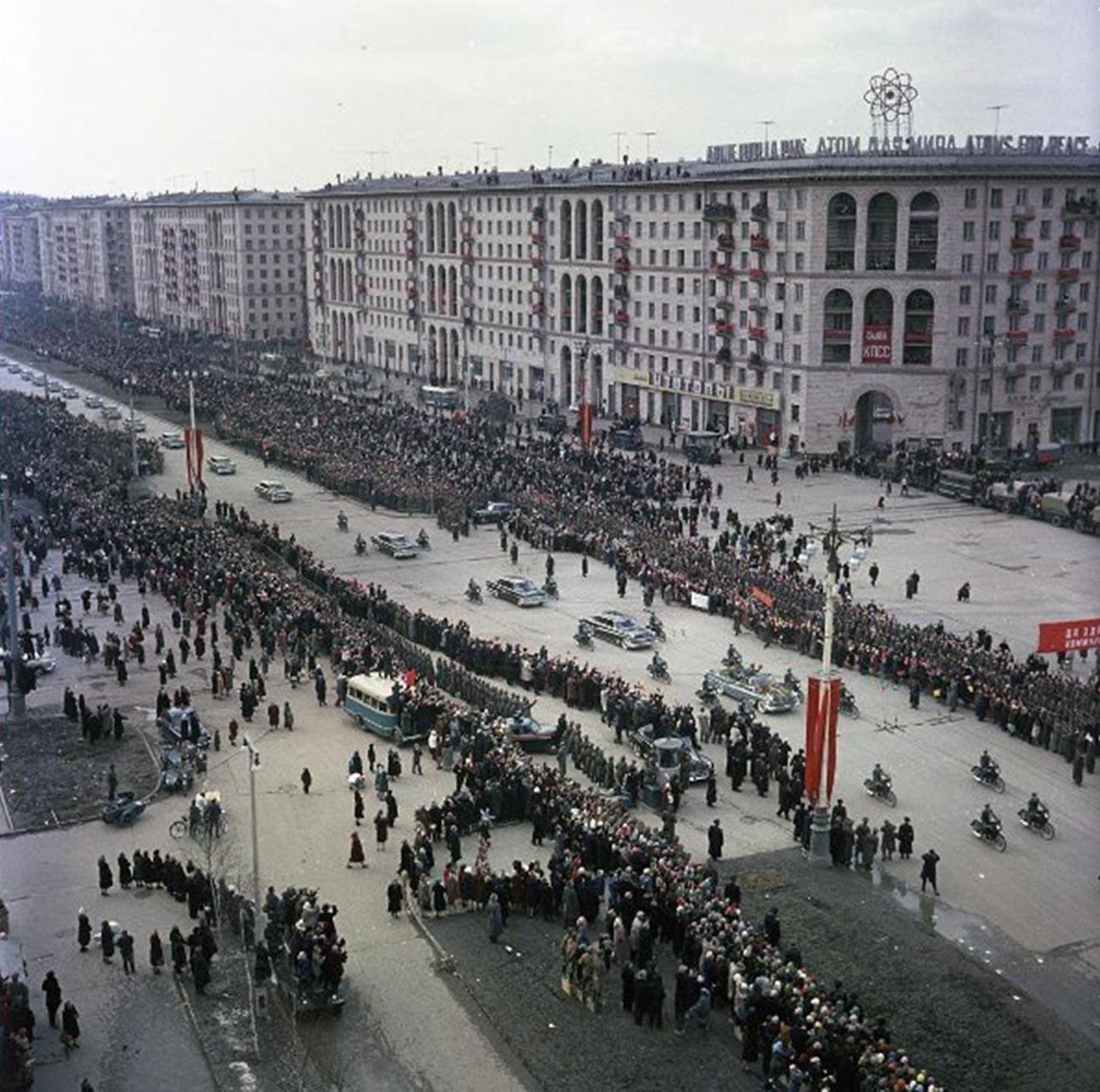 Moscou accueille Iouri Gagarine