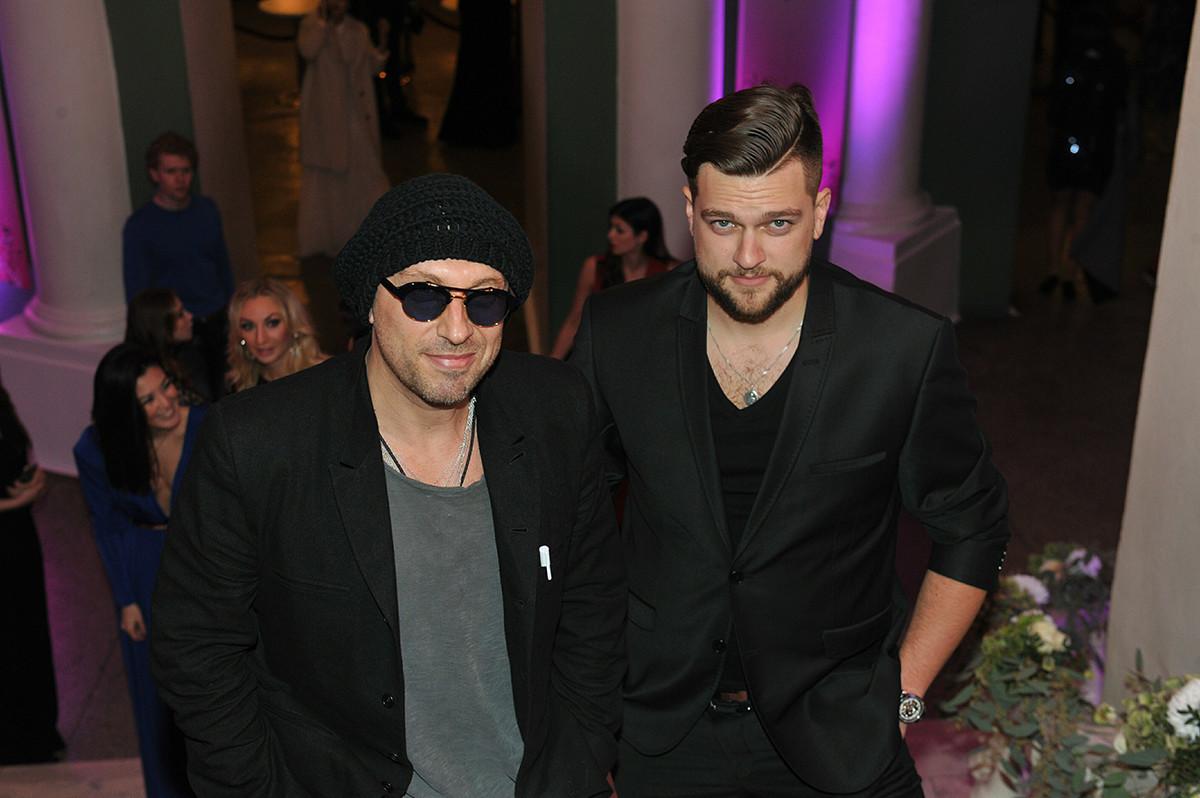 Дмитриј со синот Кирил Нагиев