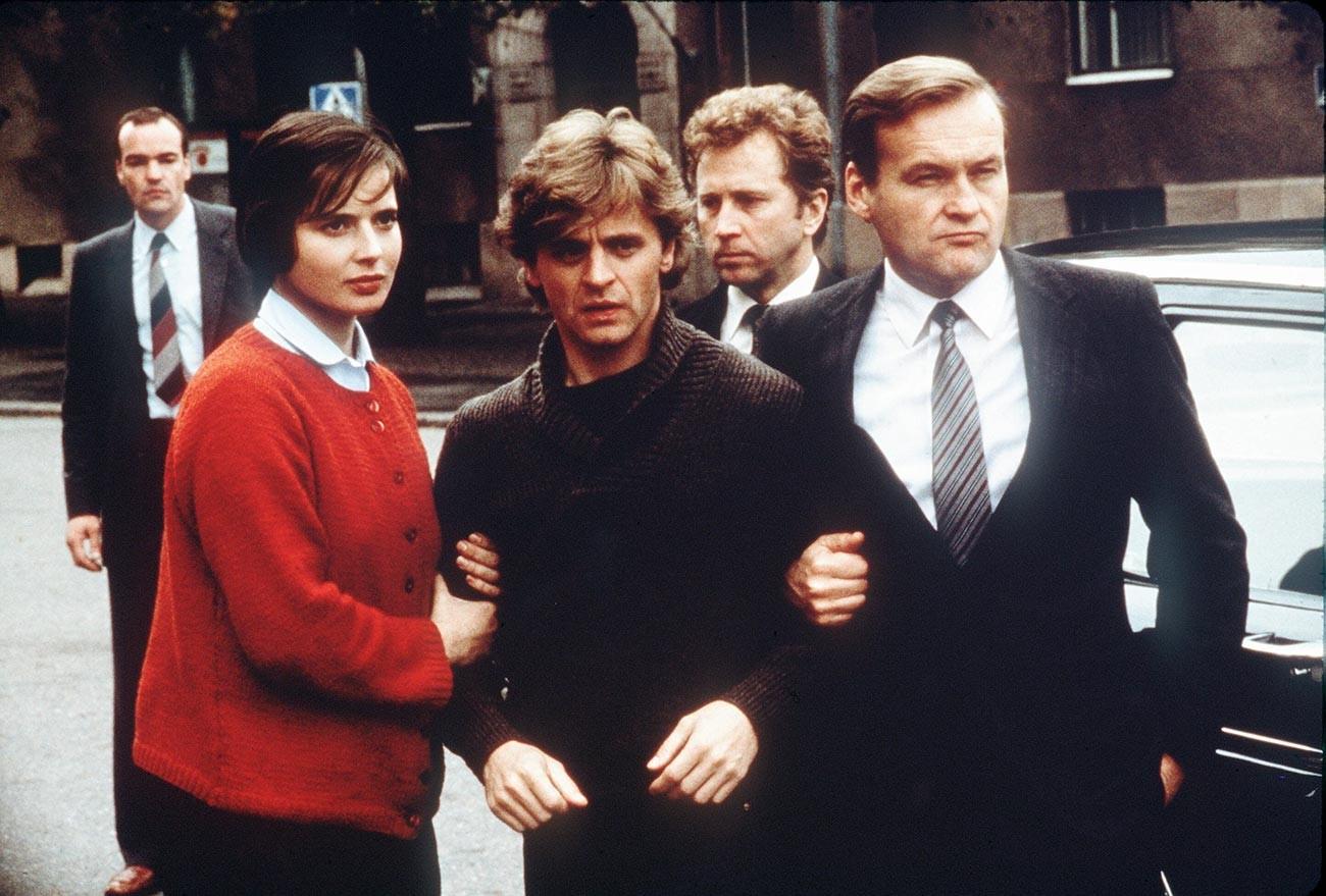 Mikhaïl Barychnikov, Isabella Rossellini et Jerzy Skolimowski
