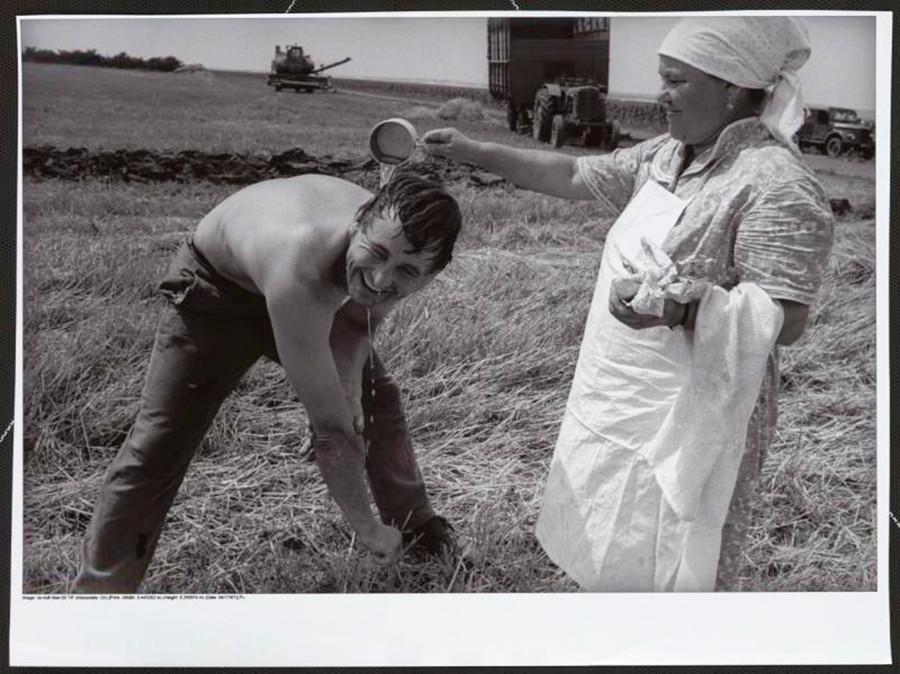 Mattina in una fattoria collettiva
