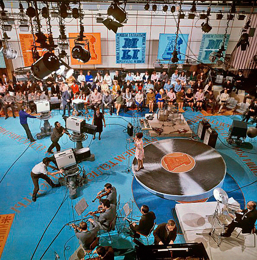 Le riprese di un programma televisivo sovietico