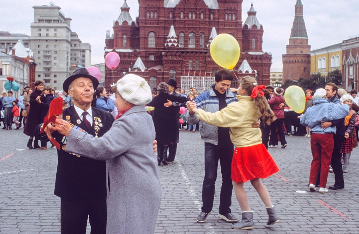赤の広場でのお祭り
