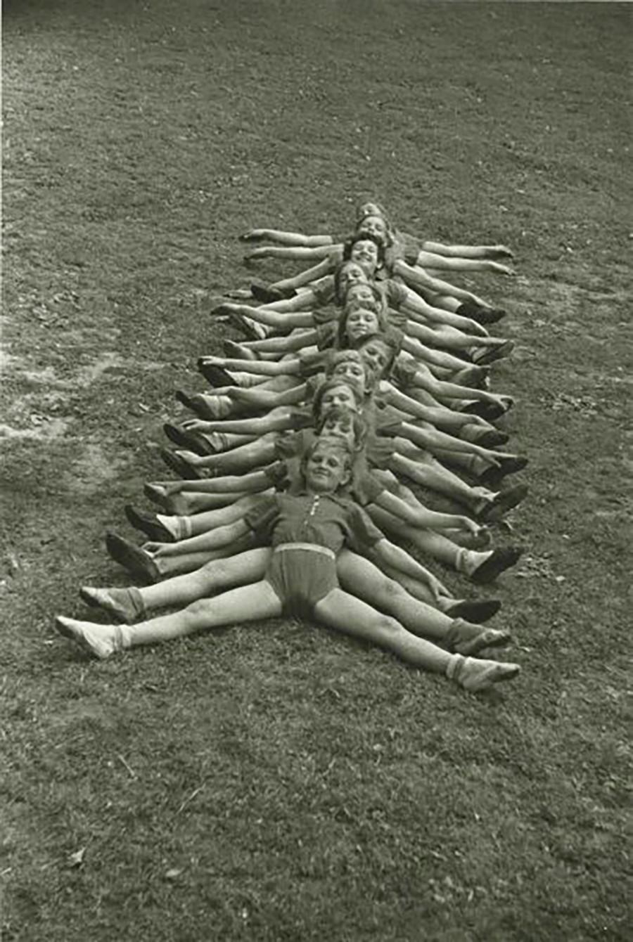 体操選手の子どもたち