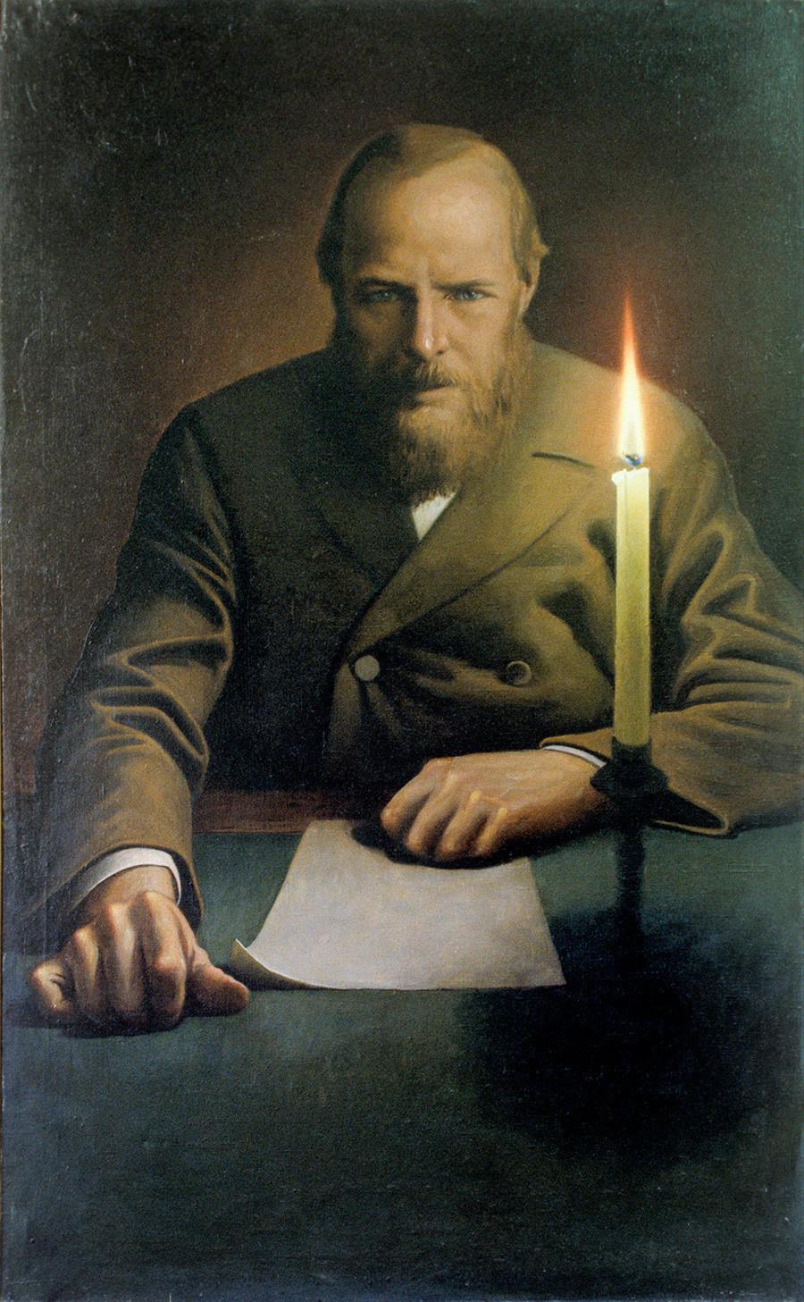 Retrato de Fiódor Dostoiévski por Konstantin Vassíliev.