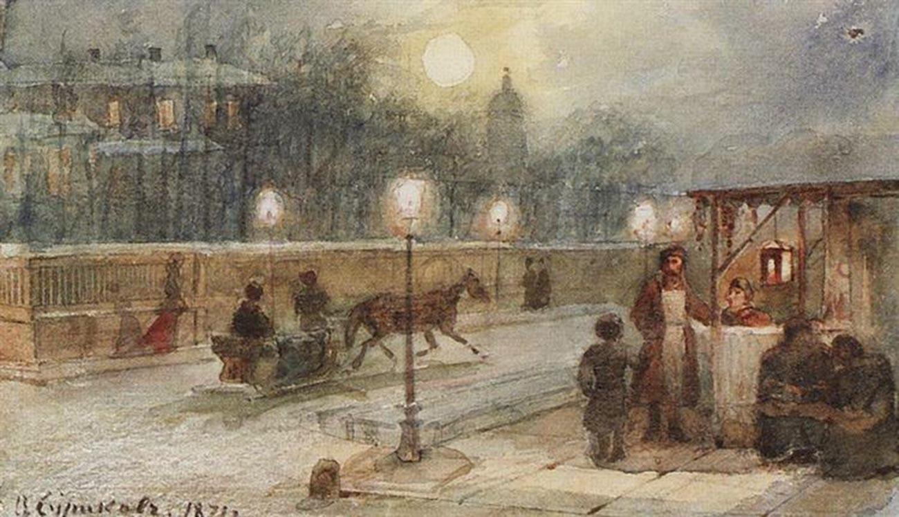 ペテルブルクの夜、1871年