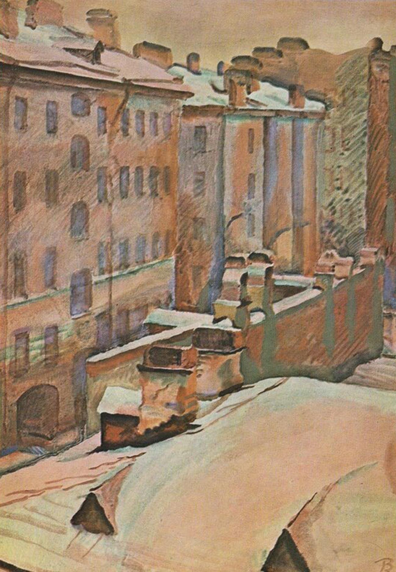 屋根、ゲスレロフスキー大通り、1941年