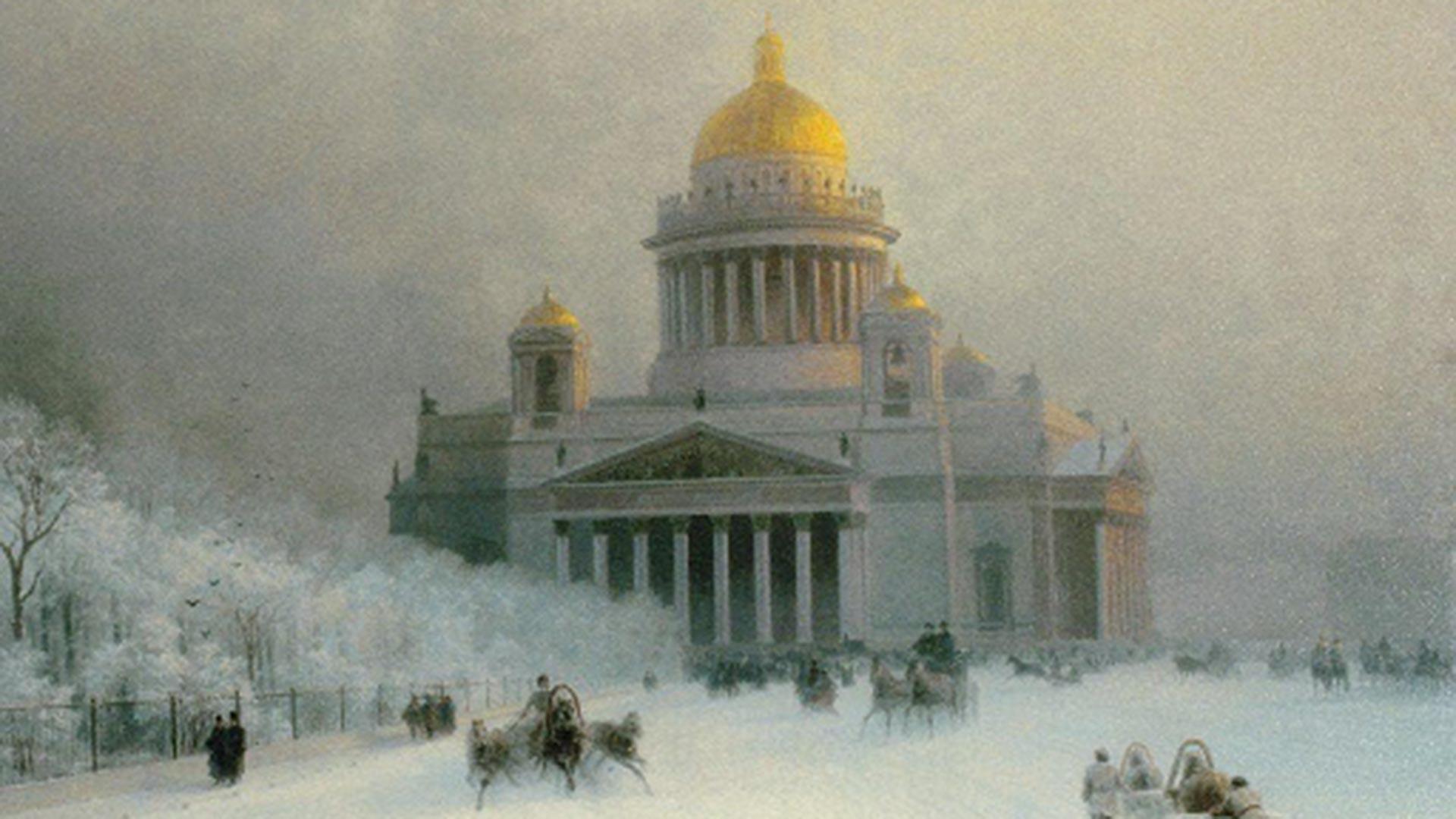 La cathédrale Saint-Isaac lors d'une journée glaciale, 1891