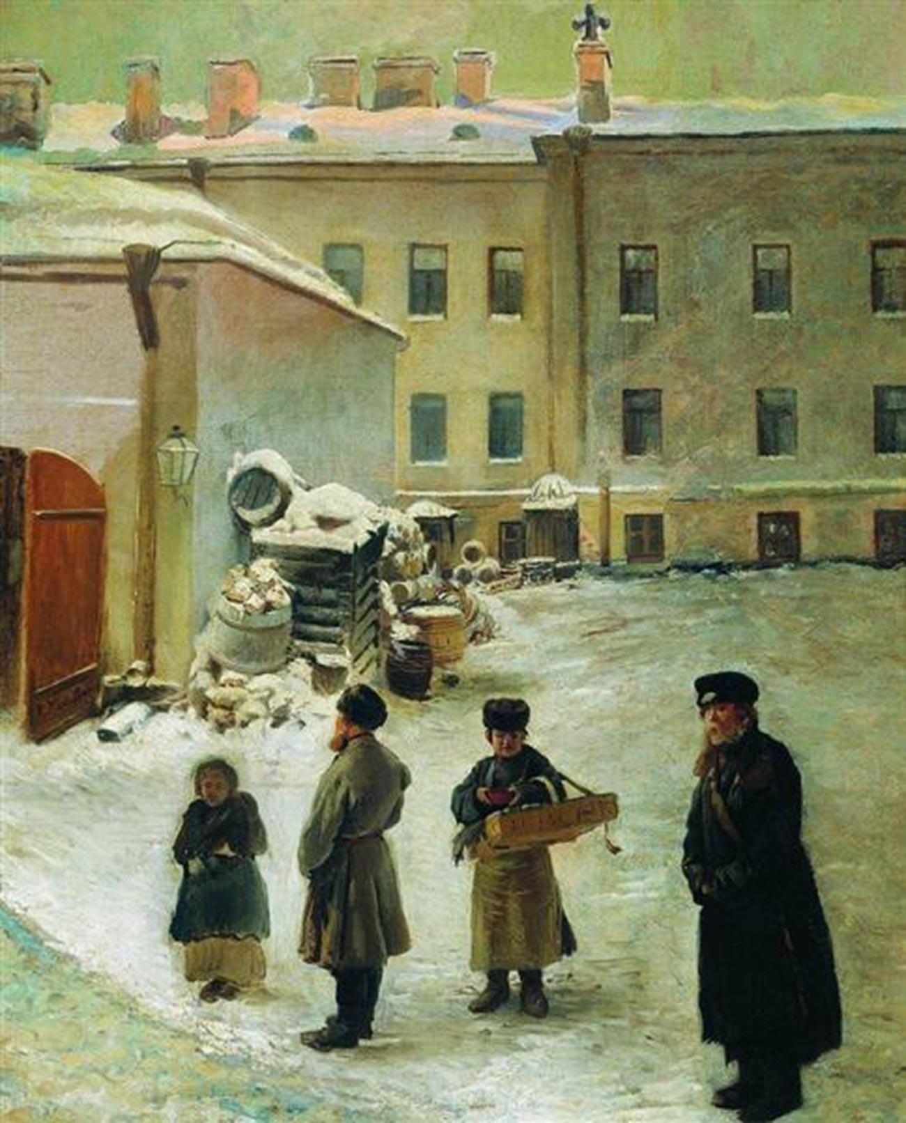 Une cour de Saint-Pétersbourg, 1850