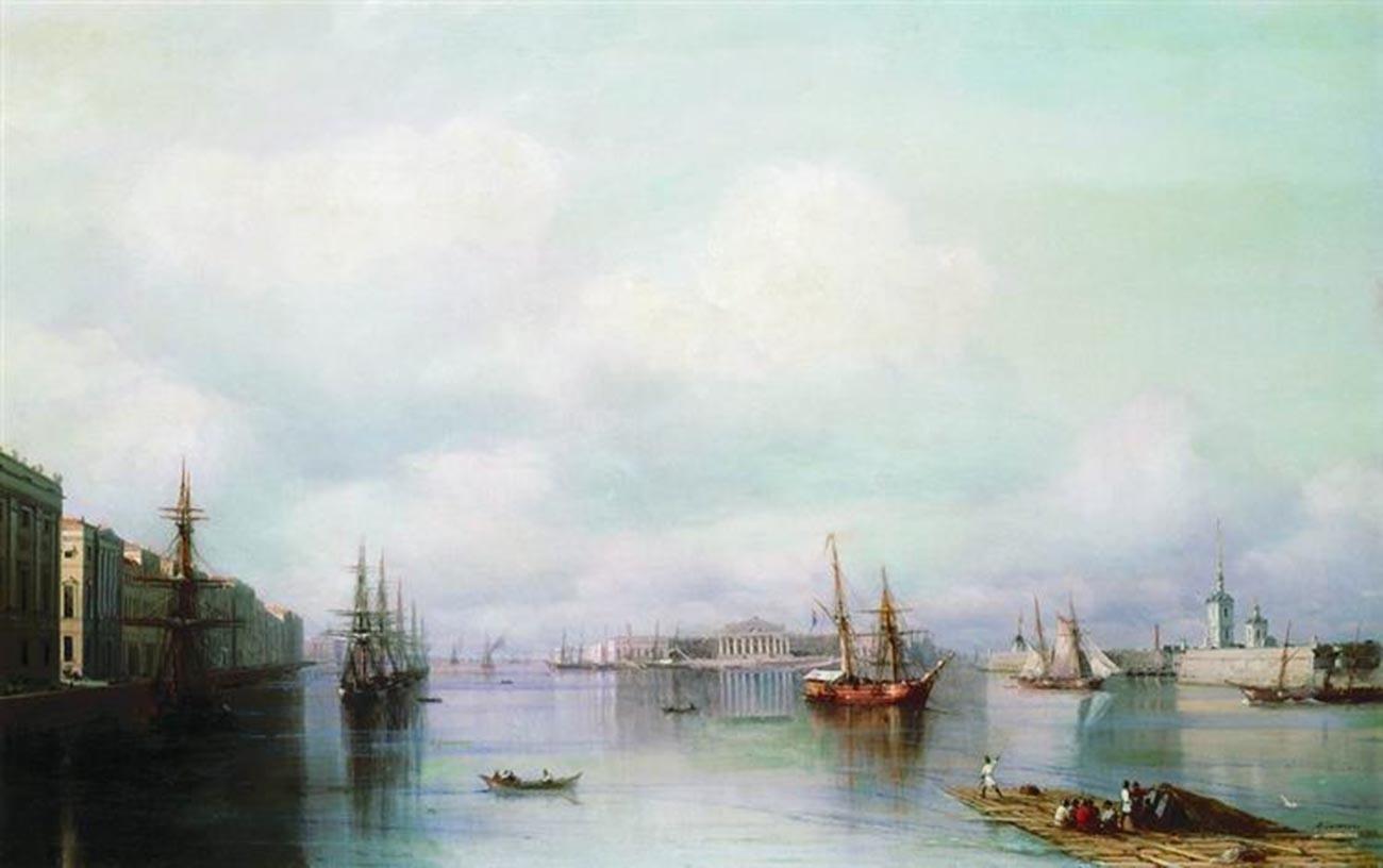 Vue de Saint-Pétersbourg, 1888