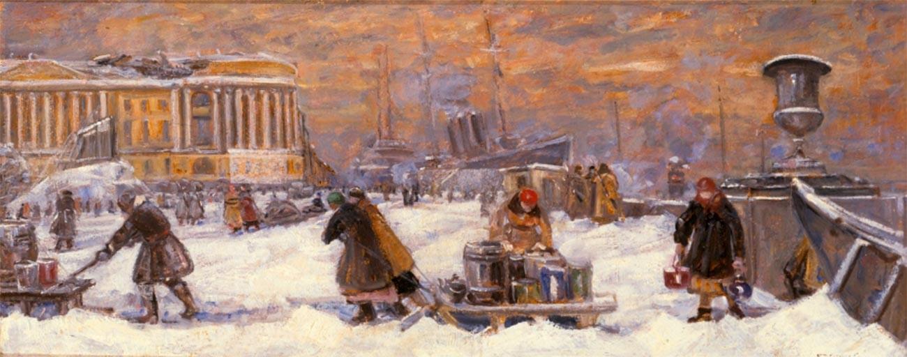 En quête d'eau, 1942