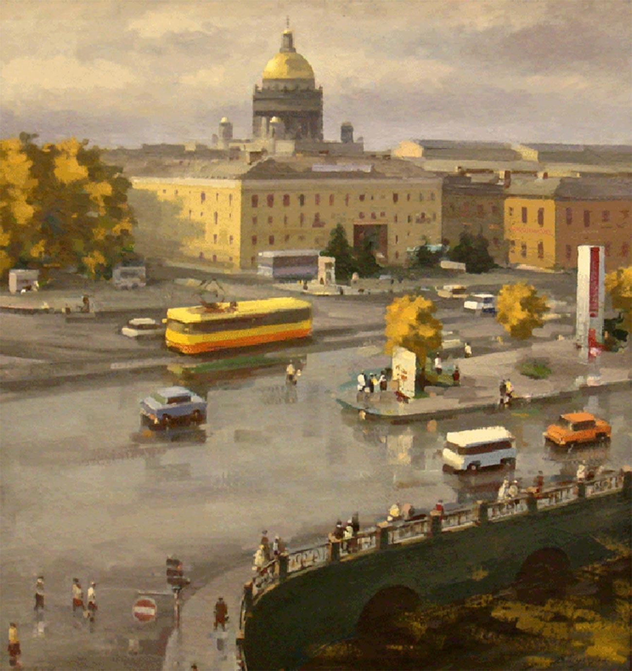 Leningrad. Place du Travail, 1983