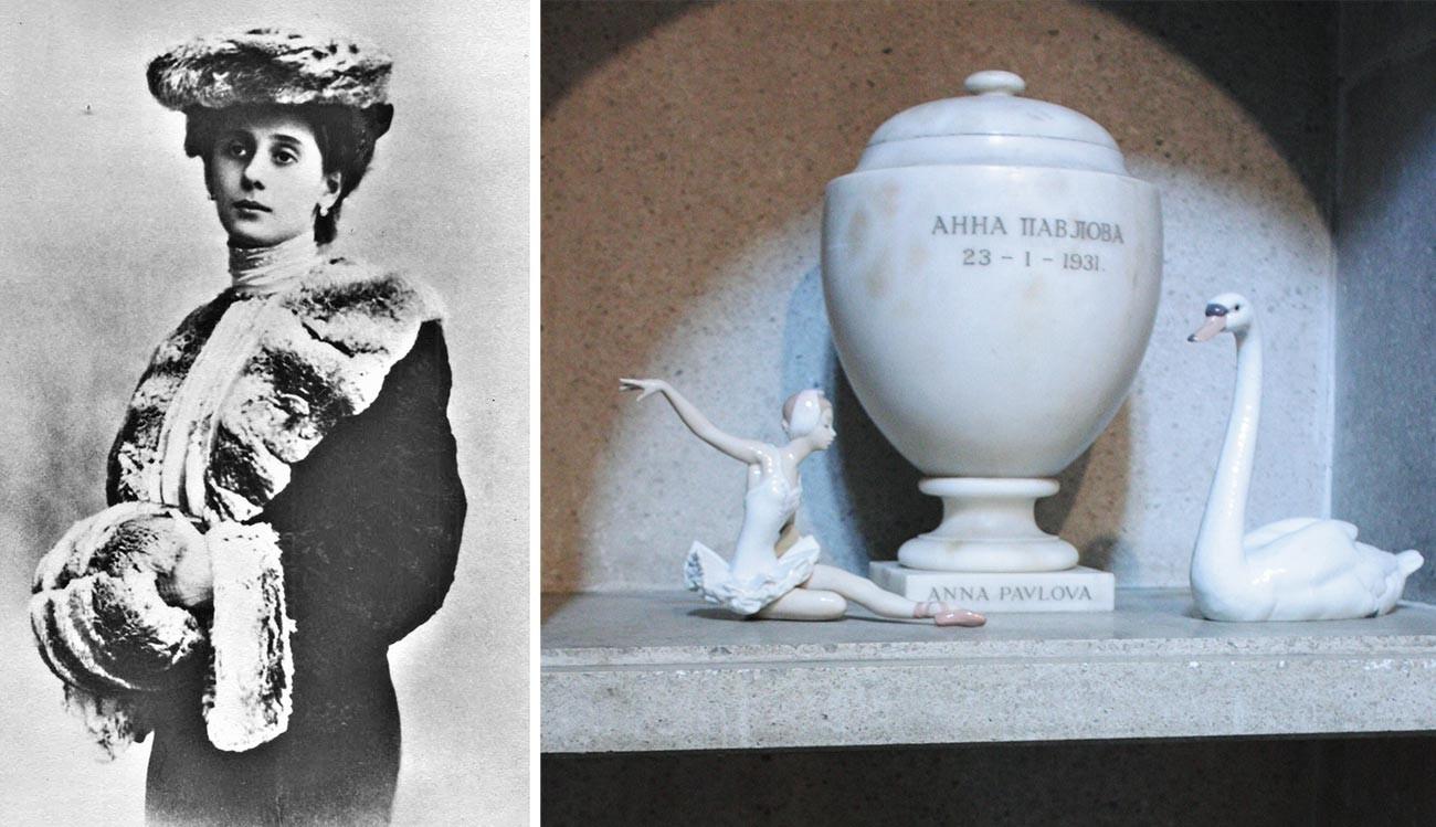 Anna Pawlowa/Golders-Green Krematorium / Urne mit der Asche von A. Pawlowa.