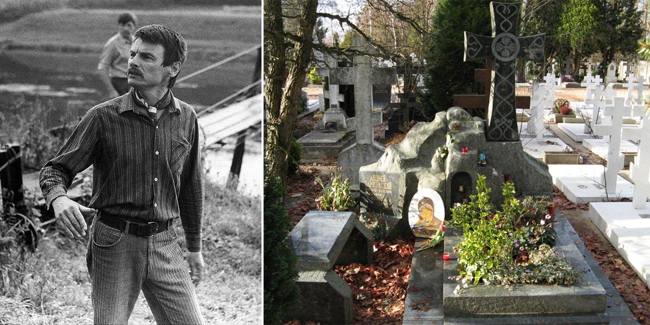 Andrei Tarkowski / Grab von Andrei Tarkowski und seiner Frau Larisa.