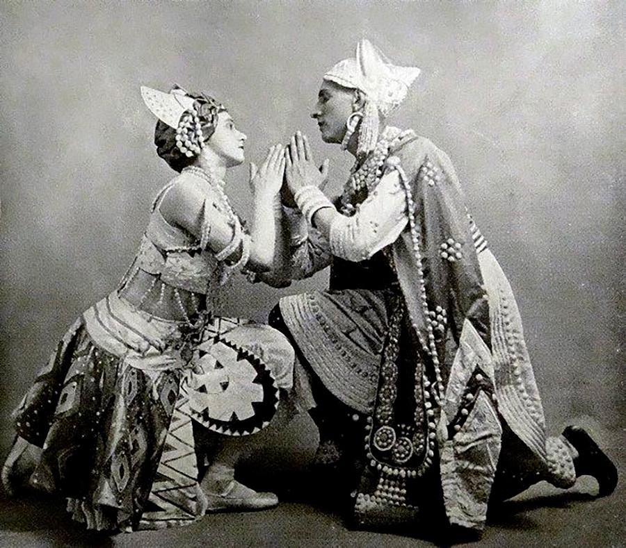 Карсавина и Фроман в Le dieu bleu, 1912 г.