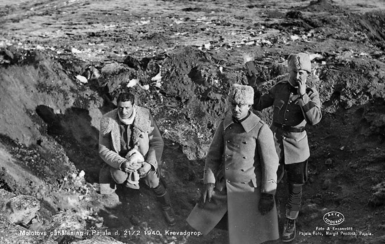 Pajala dopo il bombardamento sovietico