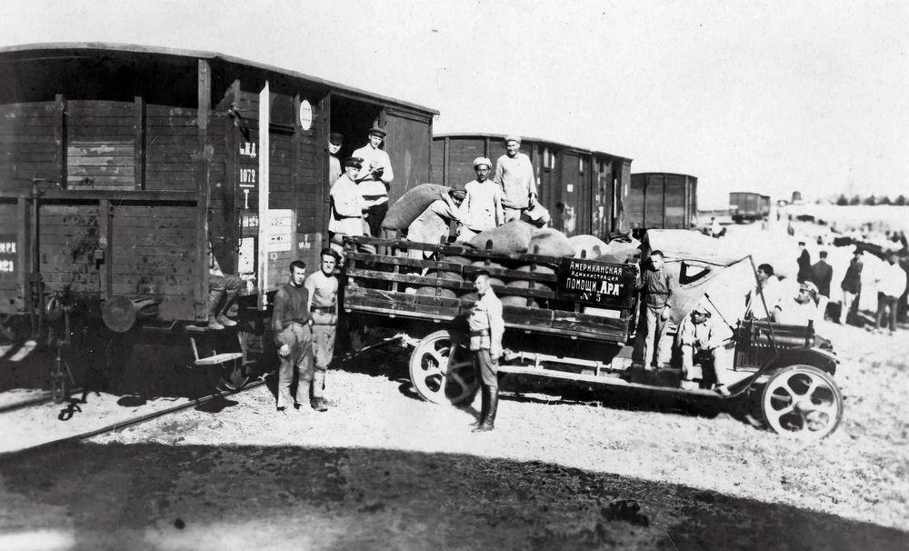 Lieferungen von der American Relief Administration.