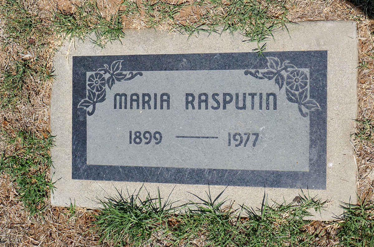 Tombe de Matriona à Los Angeles au cimetière Angelus-Rosedale