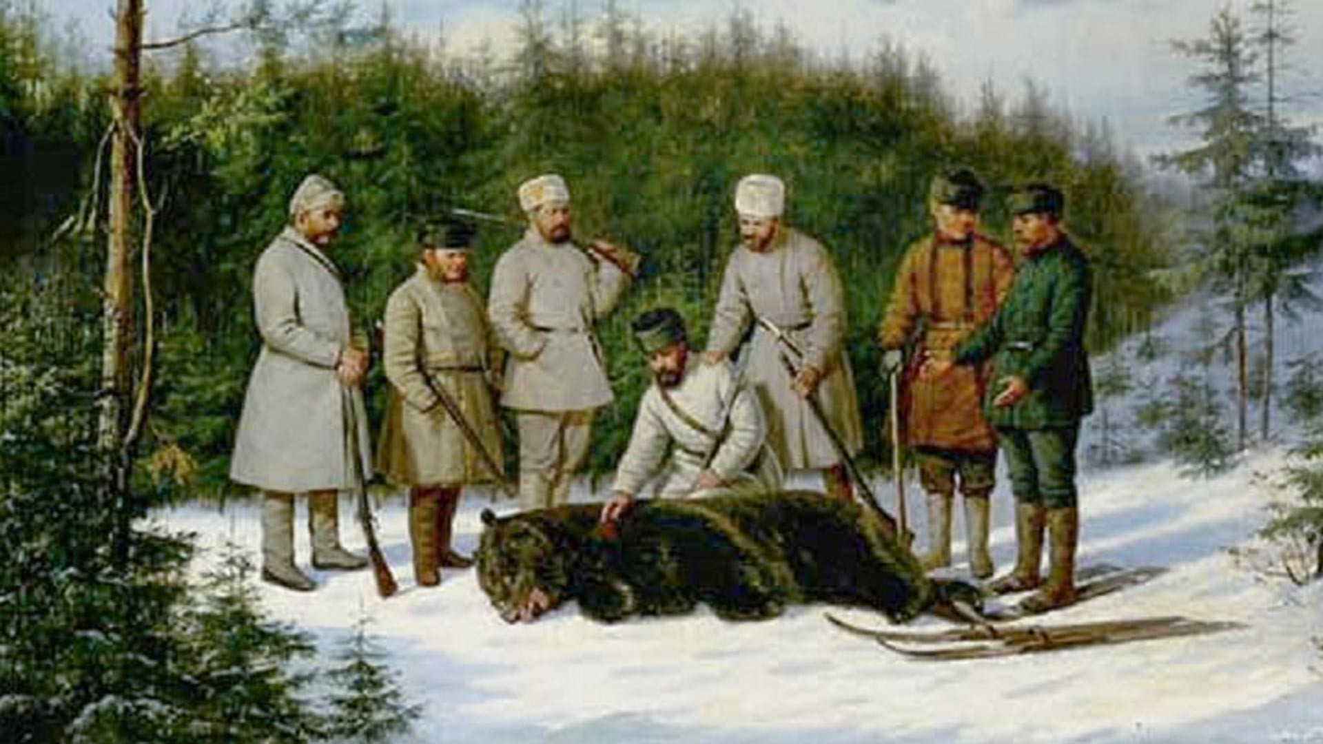 Chasse à l'ours russe