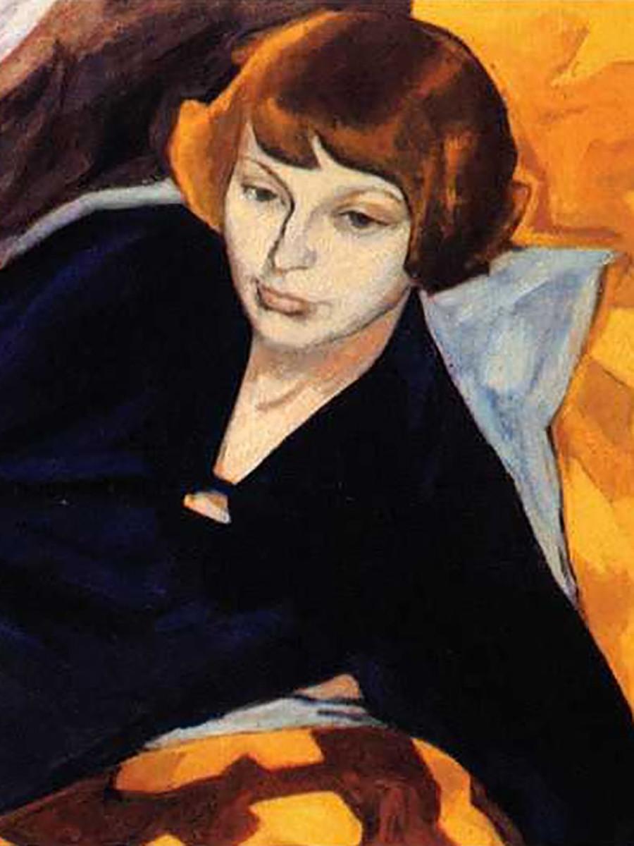 Portret Marine Cvetajeve, avtorica Magda Nahman.