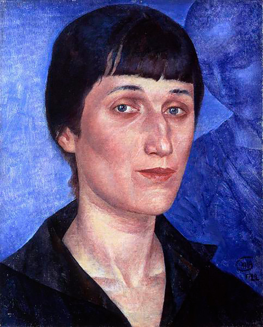 Portret Ane Ahmatove, avtor Kuzma Petrov-Vodkin.