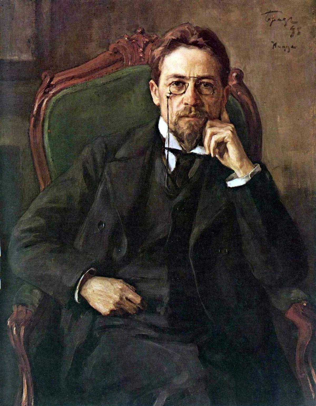 Portret Antona Čehova, avtor Osip Braz.