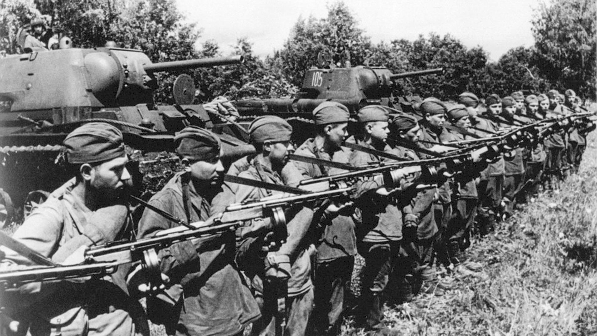The Soviet penal battalion, 1943.