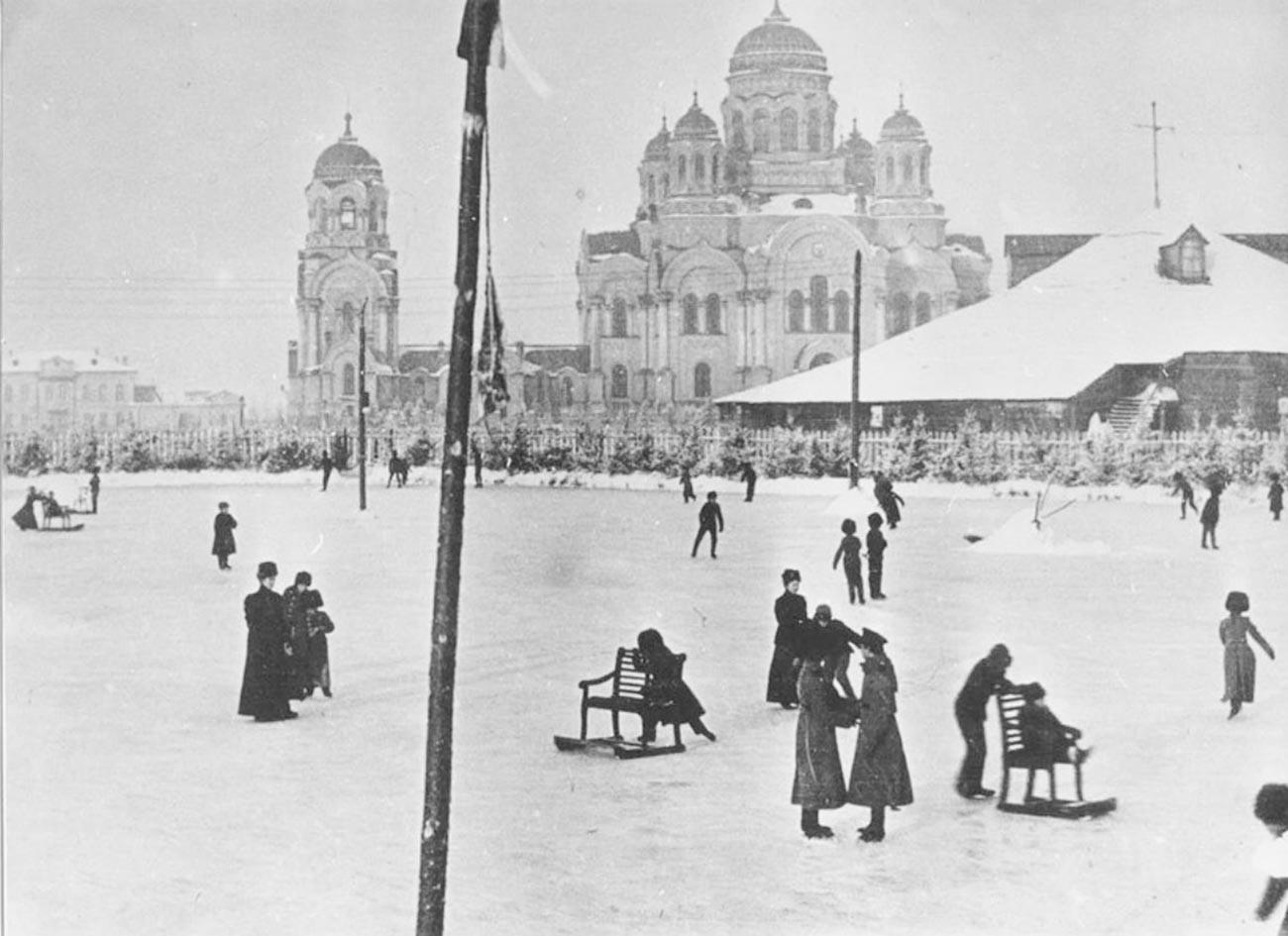 Irkutsk, Kirovski trg, kraj 19. stoljeća