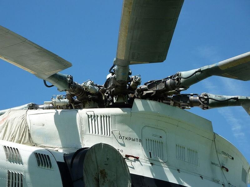 Rotor principal de un Mi-26