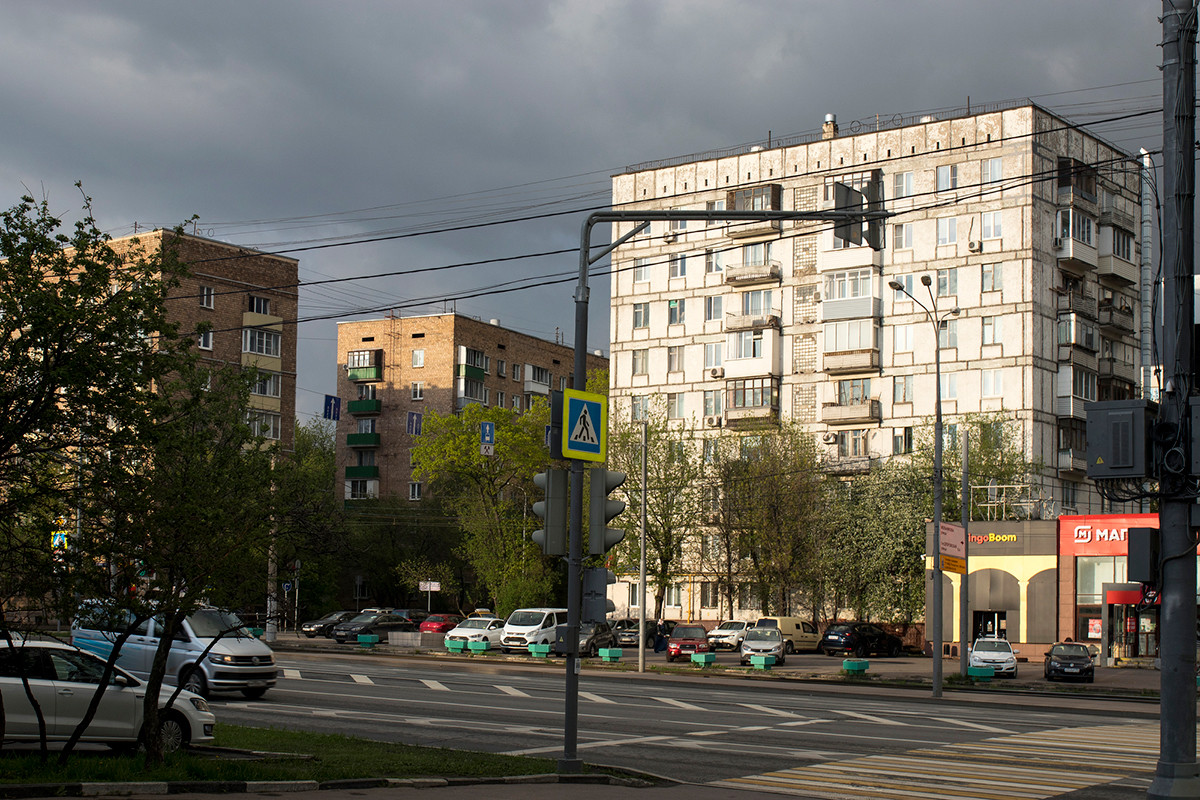 Soviet houses in Moscow.
