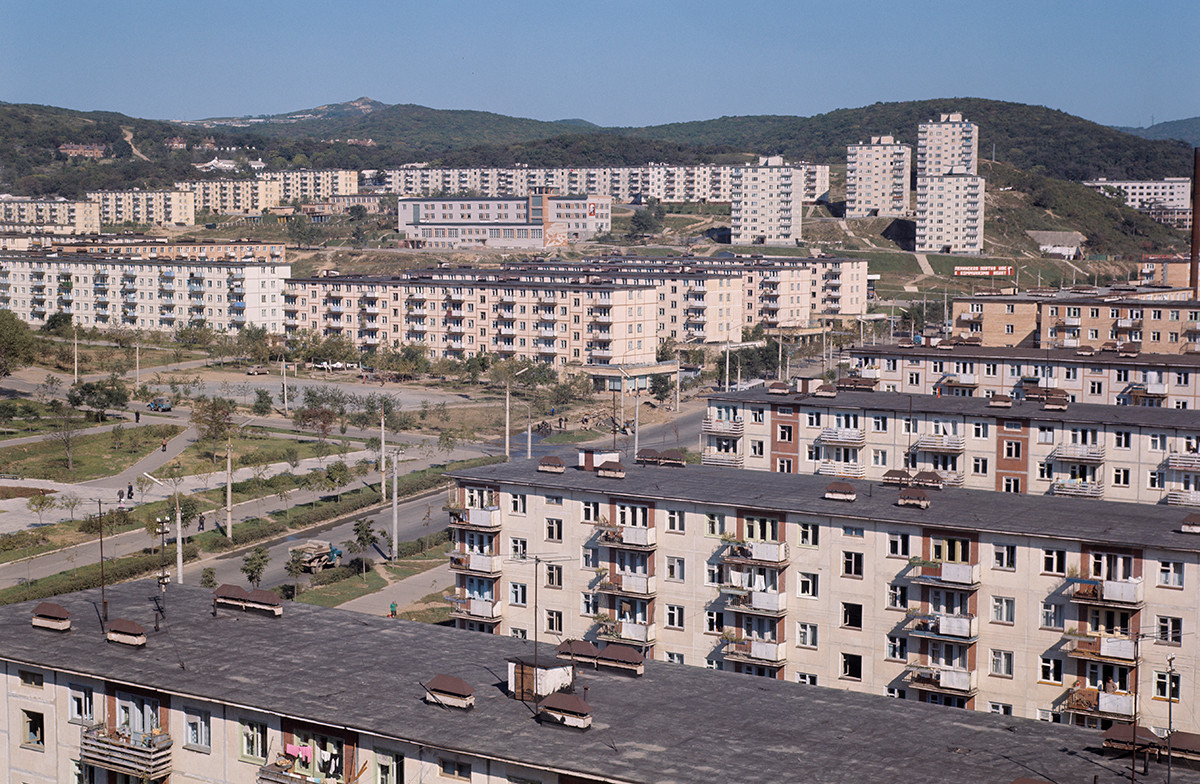A residential area in Vladivostok.