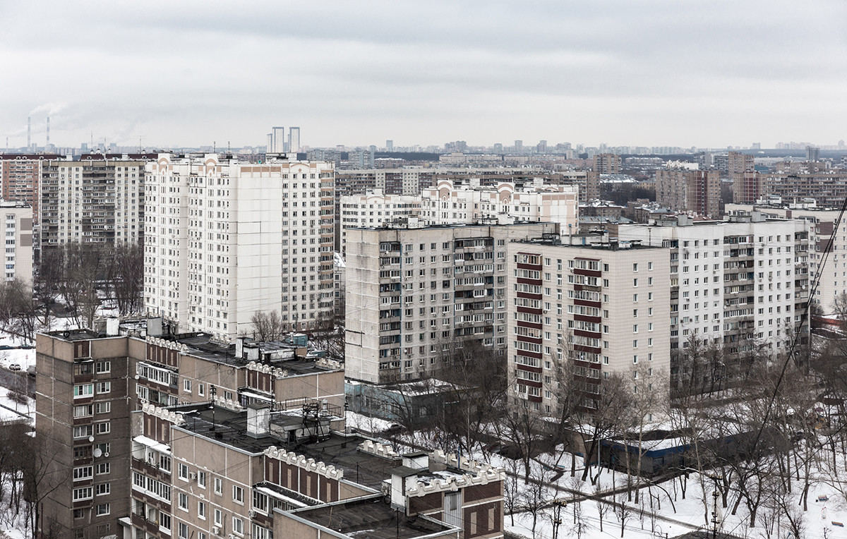 Soviet district development in Moscow.